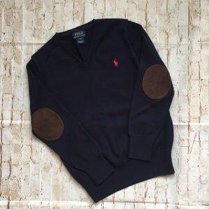 Polo Ralph Lauren Boys Navy V-Neck Sweater 7
